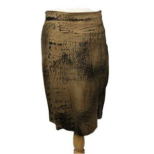 Vintage Firenze Distressed Look Leather Skirt